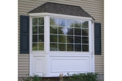 Bay window with a panel- East Handover, NJ- Lifetime Alluminum