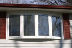 Bow window with blinds- East Handover, NJ- Lifetime Alluminum